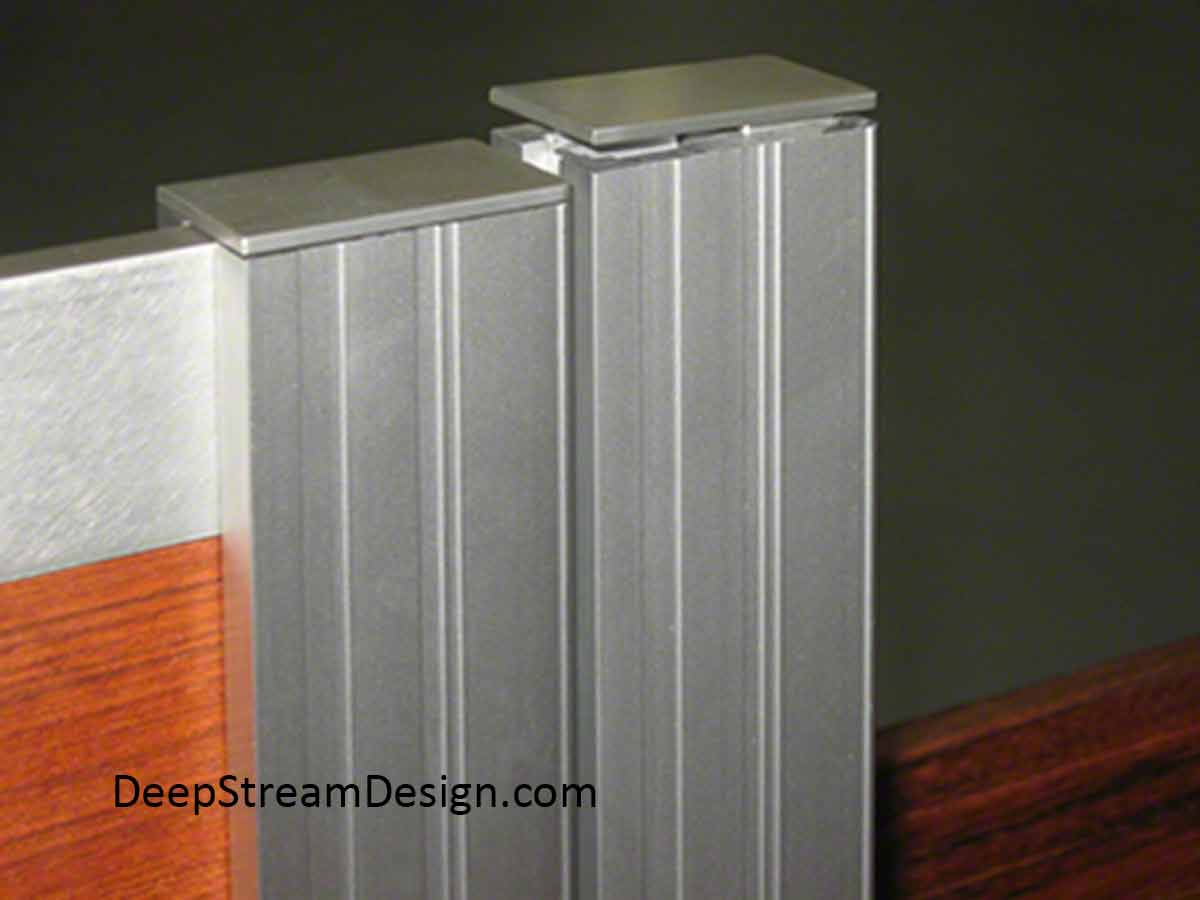 DeepStream's Wood Planters with Gates can hold a gate that is taller than the wood planter boxes using our proprietary Terminal Extrusions, which are finished with either plastic or aluminum caps on top.
