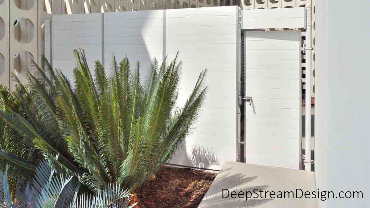 Planters for Gates are incorporated in the backside of a security enclosure, preventing access to dangerous equipment.