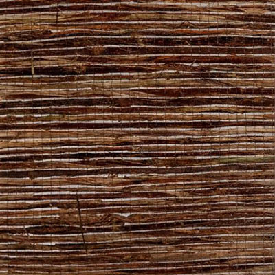 Studio photo of a sample of 3-form Banana Fiber Dark Varia Ecoresin with natural dark banana fiber making a woven wicker like pattern embedded in a clear resin.